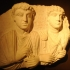 Funerary relief of a father and his son image