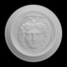 Medallion decorated with Medusa's head