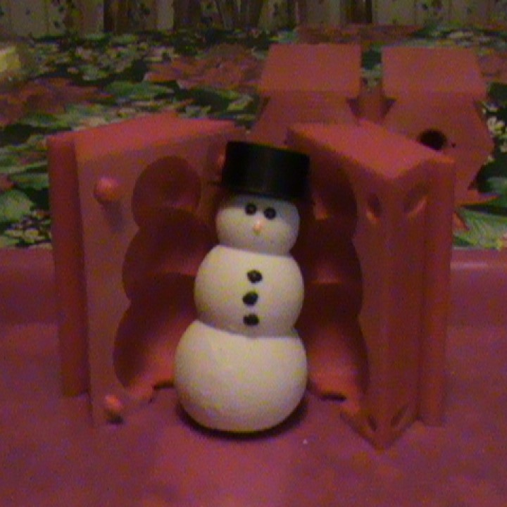 Pouring snowman mold (Soapmen example and more!)