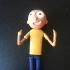 Morty Action Figure (Rick and Morty) print image
