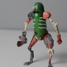 Picture of print of Rat Warrior Pickle Rick