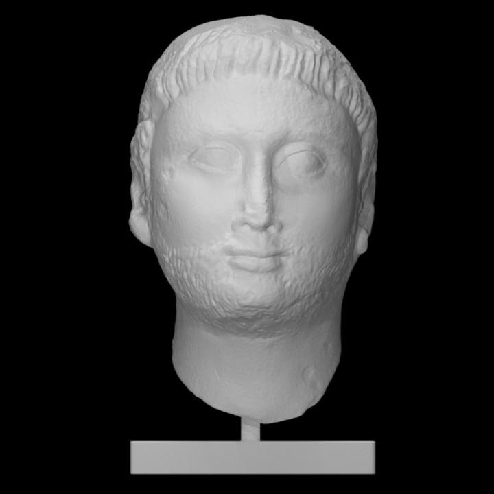 Egyptian limestone male head