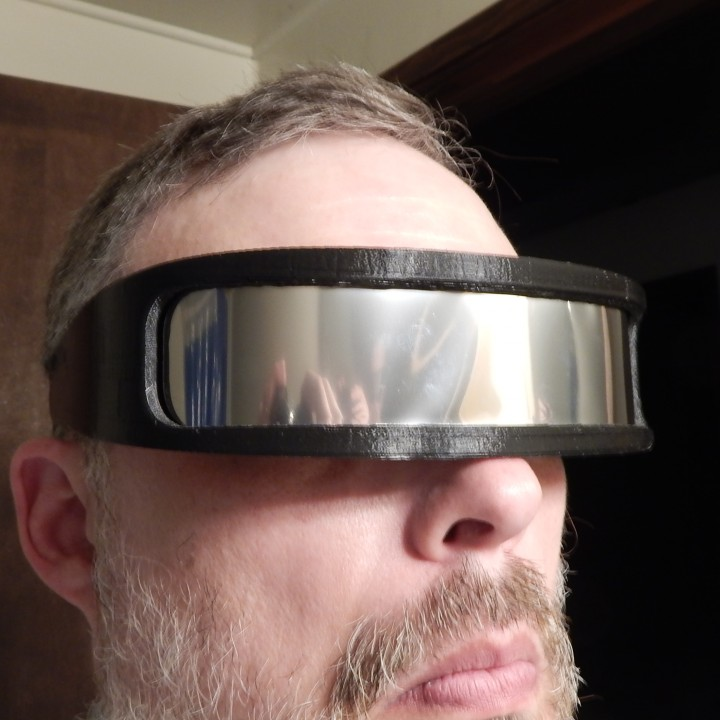 image relating to Printable Solar Eclipse Glasses named 3D Printable Sunlight Eclipse Sungles as a result of Robert Nech