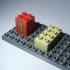 LEGO DUPLO compatible base 6 x 12 - 1/2 height image