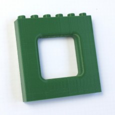 LEGO DUPLO - Compatible Brick Wall 6x1x5