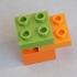 LEGO DUPLO - Compatible Brick 2x2 - 1/2 height image