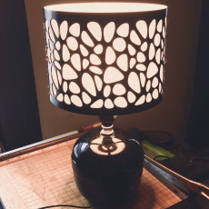 Picture of print of Voronoi Lampshade