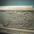 Pseudosarcophagus slab with birds pecking at grapes image