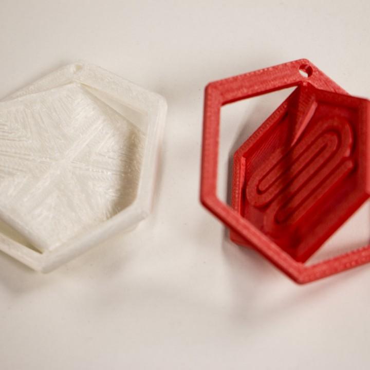 Fargo 3D Printing Ornament