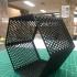 Hexagon fractal shelf print image