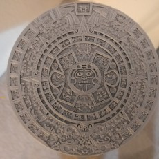 Picture of print of Aztec Calendar - Sun Stone This print has been uploaded by Kossel Linear+