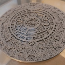 Picture of print of Aztec Calendar - Sun Stone