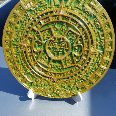 Picture of print of Aztec Calendar - Sun Stone This print has been uploaded by ALLEN FALKMAN