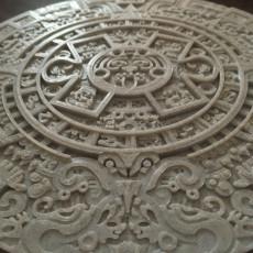 Picture of print of Aztec Calendar - Sun Stone