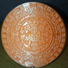 Picture of print of Aztec Calendar - Sun Stone This print has been uploaded by David Martinez