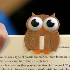 Multi-Color Owl Bookmark