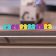 Multi-Color Lego Letter Blocks