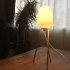 Dowel Lamp with low poly shade! image