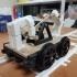 Railroad Hand Car and wagon print image