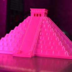 Picture of print of El Castillo, Kukulcan Pyramid - Chichen Itza, Mexico
