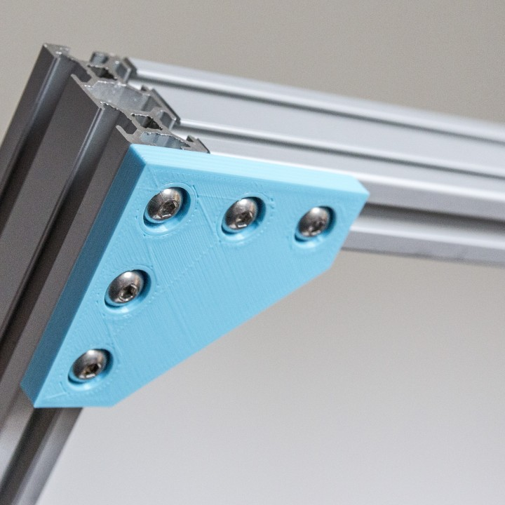 Customizable Plate Bracket for Aluminium Extrusion Profiles (Misumi 2020, 2040, 4040, ...)