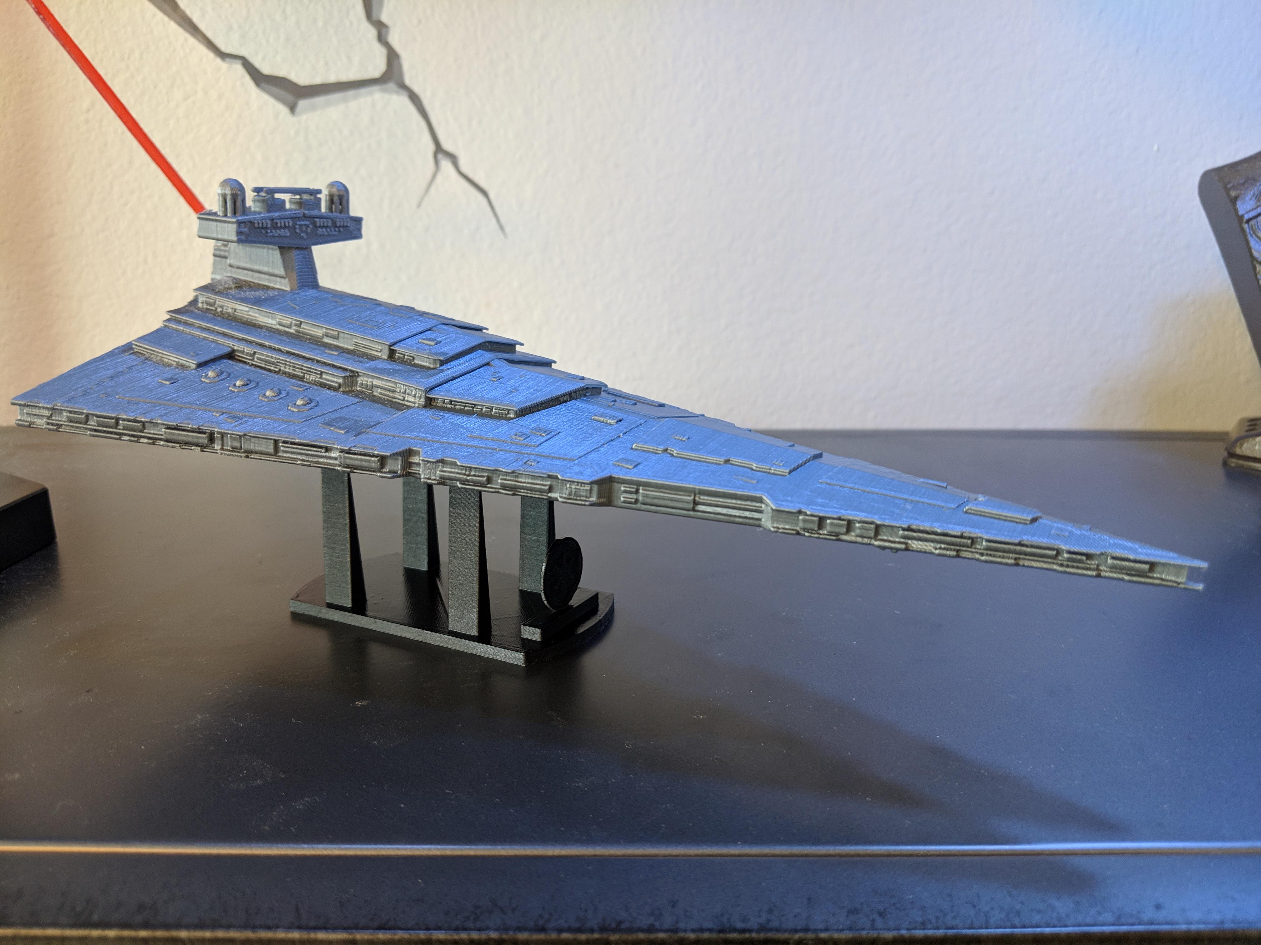 3D Printable Imperial Star Destroyer Class II by Luka Verigikj