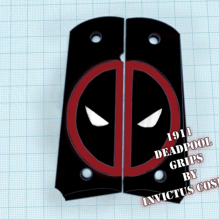 Deadpool 1911 Grips by Invictus Cosplay