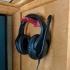 Wall Mounted Headphone Hanger print image