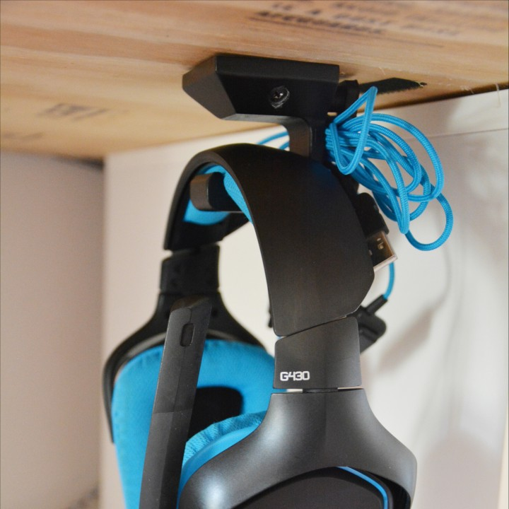 Under Desk Headphone Hanger Image