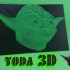 DIBUJO EN 3D YODA    (STAR WARS) image