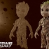 Baby Groot lithophane image