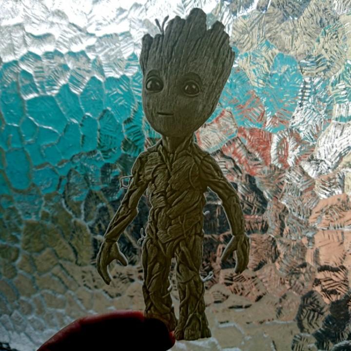 Baby Groot lithophane