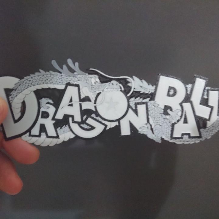 Logo Dragon ball en 3D