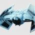 Nave de Combate Star Wars dibujo 3D image