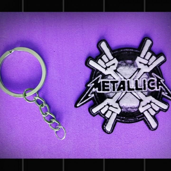 metaliica keychain