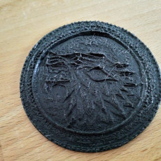Picture of print of Game Of Thrones coin