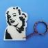 keychain Marilyn Monroe stencil image