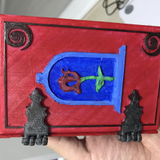 Picture of print of Belle Book Dice Box