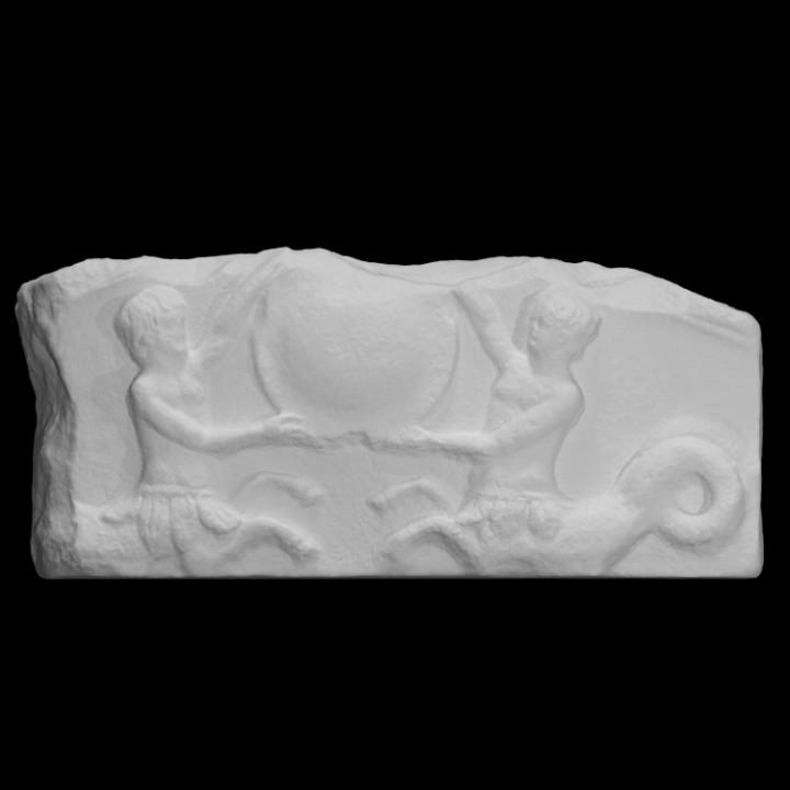 Part of a pediment