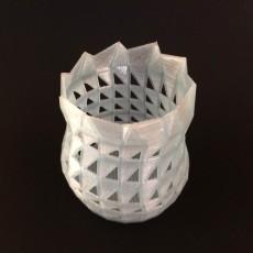 Triangular Cut Vase