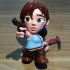Hollow Lara Croft Toon Figure - Optimized for SLA Printers image