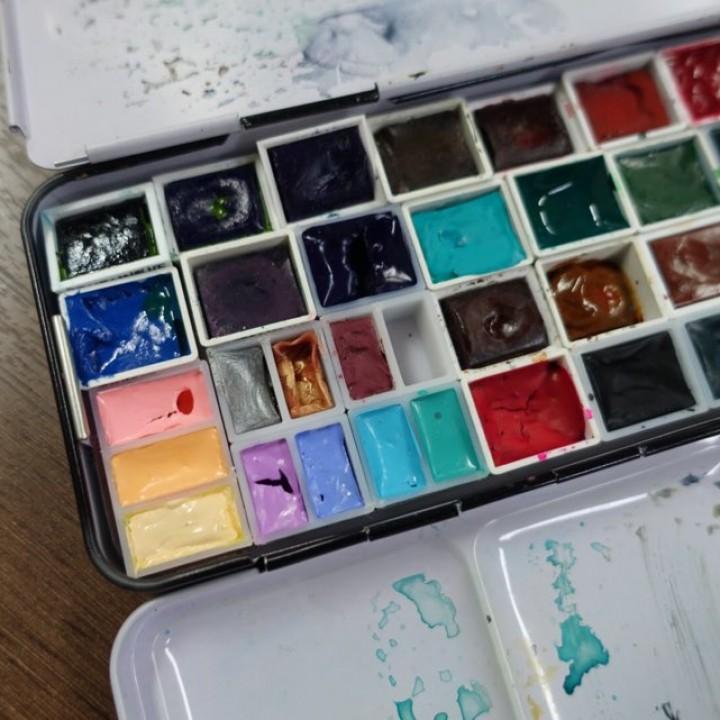 Pans for watercolor palette