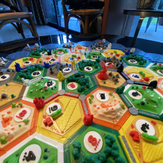 Picture of print of catan-style boardgame 2.0 (magnetic & multicolor)