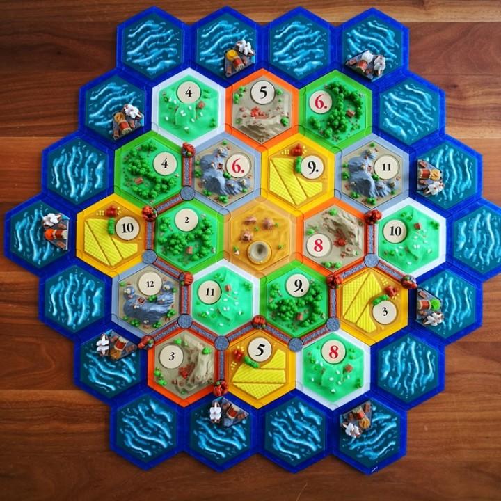 catan-style boardgame 2.0 (magnetic & multicolor)