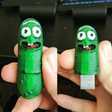 Picture of print of Pickle Rick USB 这个打印已上传 jake Norsworthy