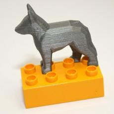 Duplo Compatible German Shepard Dog