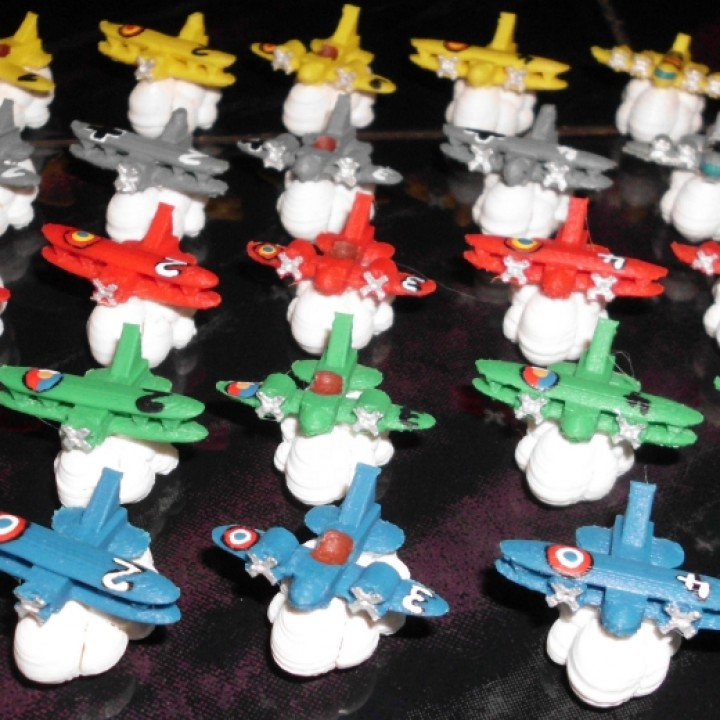 """Planes on a cloud for the boardgame """"L`Aèropostale"""""""