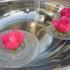 Water droplet vase. Magical invisible floating vase. Wedding decor, Candle holder. image