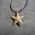 Simple Star Pendant. Charm bracelet. 3d shape. image