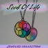 Seed of Life Collection. Pendants for Necklaces, bag tags, earrings or bracelets. Stained Glass Window. image